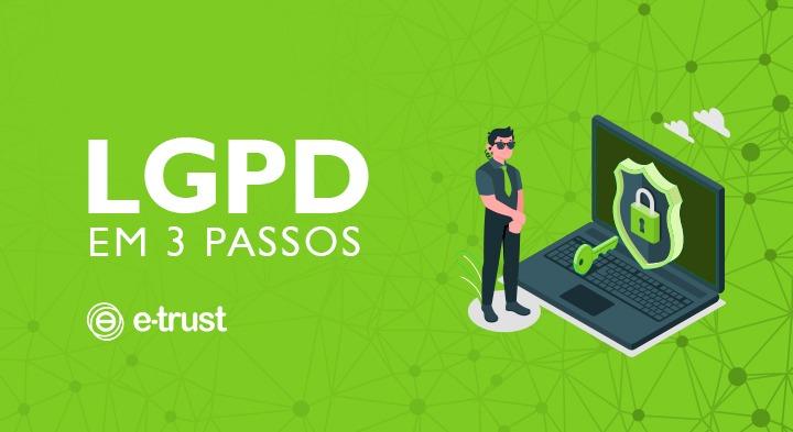 A LGPD em 3 passos